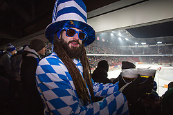 03.01.2015, Klagenfurter Wörthersee Stadion, Klagenfurt, AUT, EBEL, EC KAC vs EC VSV, 35. Runde, in picture Fan of VSV with beer during the Erste Bank Icehockey League 35. Round between EC KAC and EC VSV at the Klagenfurter Wörthersee Stadion, Klagenfurt, Austria on 2015/01/03. Photo by Matic Klansek Velej / Sportida