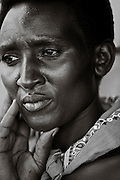 Portrait of Dorthee, Caretaker of the Rugerero Genocide Memorial in Rugerero Rwanda.