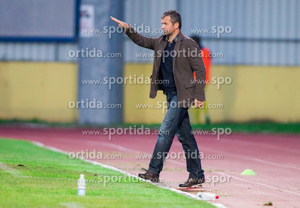 Dejan Djurmanovic, head coach of Radomlje during football match between NK Kalcer Radomlje and NK Domzale in 8th Round of Prva liga Telekom Slovenije 2014/15, on September 13, 2014 in Sports park Domzale, Slovenia. Photo by Vid Ponikvar  / Sportida.com