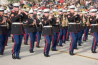 United States Marine Corps Marching Band at the 2008 Tournament of Roses Parade, Pasadena, California
