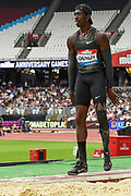 Marquis Dendy of the United States of America in the Men's Long Jump during the Muller Anniversary Games, Day Two, at the London Stadium, London, England on 22 July 2018. Picture by Martin Cole.