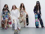 UNITED KINGDOM, London: 22 September 2015 Models present creations by designer Ashish during London Women's fashion week in London, England. Pic by Andrew Cowie / Story Picture Agency
