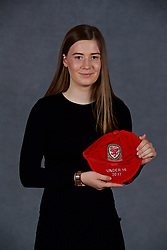 NEWPORT, WALES - Saturday, May 19, 2018: Layla Howells during the Football Association of Wales Under-16's Caps Presentation at the Celtic Manor Resort. (Pic by David Rawcliffe/Propaganda)