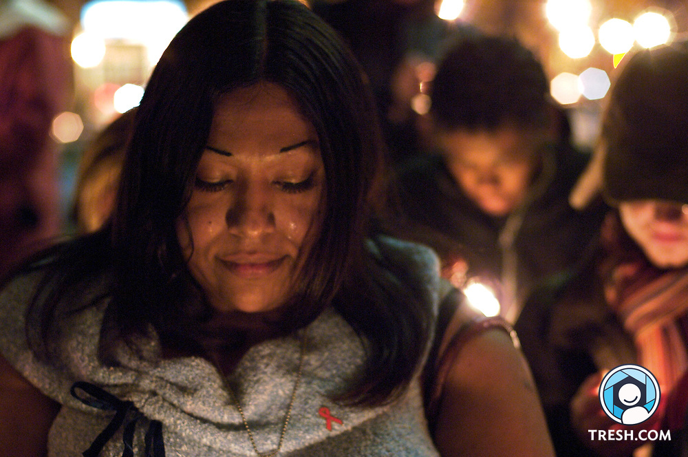 Washington DC transgender activist Ruby Corado during the National Transgender Day of Remembrance: Program and Candle Light Vigil