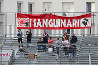 Supporters Ajaccio  - 20.12.2014 - Brest / Ajaccio - 18eme journee de Ligue 2 <br /> Photo : Vincent Michel / Icon Sport
