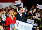 Photo By Michael R. Schmidt.Republician Presidential candidate Mitt Romney at a rally in Schaumburg, IL 2012.