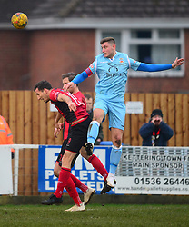 TAMWORTH JOEL KETTLE HOLDS OF   KETTERING CRAIG STANLEY,  Kettering Town v Tamworth FC, Evostik Southern Premier League, Latimer Park Saturday 5th January 2019