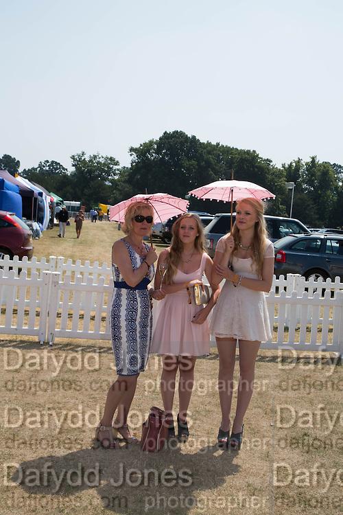JUDITH PAGE; NATASHA PAGE; GEORGINA HENDERSON, Veuve Clicquot Gold Cup, Cowdray Park, Midhurst. 21 July 2013