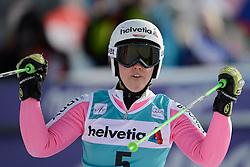 09.12.2012, Engiadina Rennstrecke, St. Moritz, SUI, FIS Ski Alpin Weltcup, Riesenslalom, Damen, 2. Lauf, im Bild Viktoria Rebensburg (GER) jubelt im Ziel reacts // after her 2nd run of ladies Super G of FIS ski alpine world cup at the Engiadina course, St. Moritz, Switzerland on 2012/12/09. EXPA Pictures © 2012, PhotoCredit: EXPA/ Freshfocus/ Andreas Meier..***** ATTENTION - for AUT, SLO, CRO, SRB, BIH only *****
