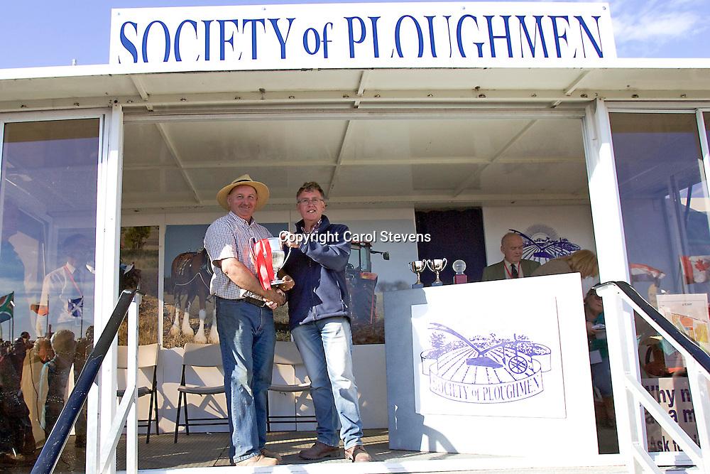 World and British National Ploughing Championships 2016  Prizegiving<br /> Jim Elliott
