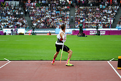 London, August 12 2017 . Dominik Distelberger, Austria, in the men's decathlon javelin on day nine of the IAAF London 2017 world Championships at the London Stadium. © Paul Davey.