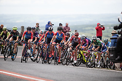 Erica Magnaldi (ITA) of WNT Rotor Pro Cycling leads the chase on Stage 6 of 2019 OVO Women's Tour, a 125.9 km road race from Carmarthen to Pembrey, United Kingdom on June 15, 2019. Photo by Balint Hamvas/velofocus.com