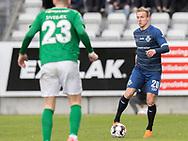 FODBOLD: Jonas Henriksen (FC Helsingør) under kampen i NordicBet Ligaen mellem Viborg FF og FC Helsingør den 24. marts 2019 på Energi Viborg Arena. Foto: Claus Birch