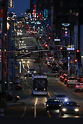 Stock Photos of Kansas City, Missouri, Street Car and Downtown Street Traffic For Sale - KC Street Car and other traffic on Main Street in Kansas City, Mo., Photo by Colin Eric Braley
