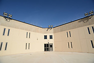 An exit to an outdoor courtyard is seen as media members tour the newest prison in Pennsylvania Friday, September 01, 2017 at State Correction Institution Phoenix in Skippack, Pennsylvania. The facility is inching closer to opening, two years late, to replace Graterford Prison at a cost of $400 million. (Photo by William Thomas Cain/CAIN IMAGES)