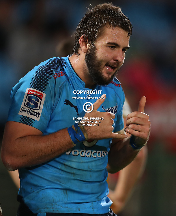 Lood de Jager of the Vodacom Bulls during the Super Rugby match between the Vodacom Bulls and the Jaguares at Loftus Versfeld, Pretoria,South Africa April 15th 2017 Photo by (Steve Haag)