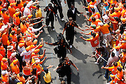 KNOXVILLE, TN - SEPTEMBER 12: Tennessee Volunteers fans look on as the team participates in the Vol Walk before the game against the UCLA Bruins at Neyland Stadium on September 12, 2009 in Knoxville, Tennessee. The Bruins won 19-15. (Photo by Joe Robbins) *** Local Caption ***