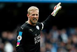 Kasper Schmeichel of Leicester City gestures - Mandatory by-line: Matt McNulty/JMP - 13/05/2017 - FOOTBALL - Etihad Stadium - Manchester, England - Manchester City v Leicester City - Premier League