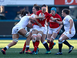 Bethan Lewis of Wales<br /> <br /> Photographer Simon King/Replay Images<br /> <br /> Six Nations Round 3 - Wales Women v England Women - Sunday 24th February 2019 - Cardiff Arms Park - Cardiff<br /> <br /> World Copyright © Replay Images . All rights reserved. info@replayimages.co.uk - http://replayimages.co.uk