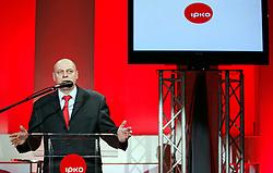 PRISTINA, KOSOVO - DECEMBER 14 - Agim Ceku, dosedanji premier Kosova, govornik na gala otvoritvi  delovanja drugega mobilnega operaterja IPKO, ki je v 67% lasti Telekoma Slovenije.
