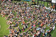 A general view of Bay Oval and fans.<br /> Pakistan tour of New Zealand. T20 Series. 3rd Twenty20 international cricket match, Bay Oval, Mt Maunganui, New Zealand. Sunday 28 January 2018. © Copyright Photo: Andrew Cornaga / www.Photosport.nz