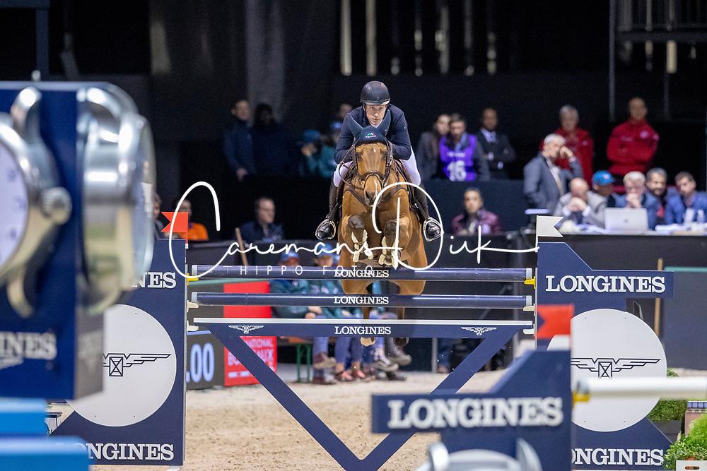 Lindelöw Douglas, SWE, Casquo Blue<br /> Jumping International de Bordeaux 2020<br /> © Hippo Foto - Dirk Caremans<br />  08/02/2020