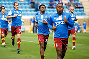 Bradford City Midfielder Tyrell Robinson (35) warms up before kick off during the EFL Sky Bet League 1 match between Gillingham and Bradford City at the MEMS Priestfield Stadium, Gillingham, England on 12 August 2017. Photo by Andy Walter.