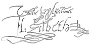 Elizabeth I (1533-1603) Queen of England and Ireland from 1558. Signature.