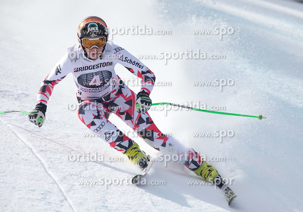 06.03.2015, Kandahar, Garmisch Partenkirchen, GER, FIS Weltcup Ski Alpin, Abfahrt, Damen, 1. Trainingslauf, im Bild Nicole Hosp (AUT) // Nicole Hosp of Austria during 1st training run for the ladie's Downhill of the FIS Ski Alpine World Cup at the Kandahar course, Garmisch Partenkirchen, Germany on 2015/03/06. EXPA Pictures © 2015, PhotoCredit: EXPA/ Johann Groder