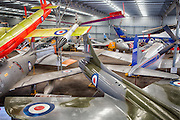 Aircrafts on display in hanger 2 at Caloundra Airport