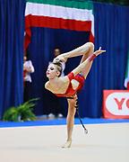 Alexandra Sollima atleta della società Arcobaleno Prato durante la seconda prova del Campionato Italiano di Ginnastica Ritmica.<br /> La gara si è svolta a Desio il 31 ottobre 2015.