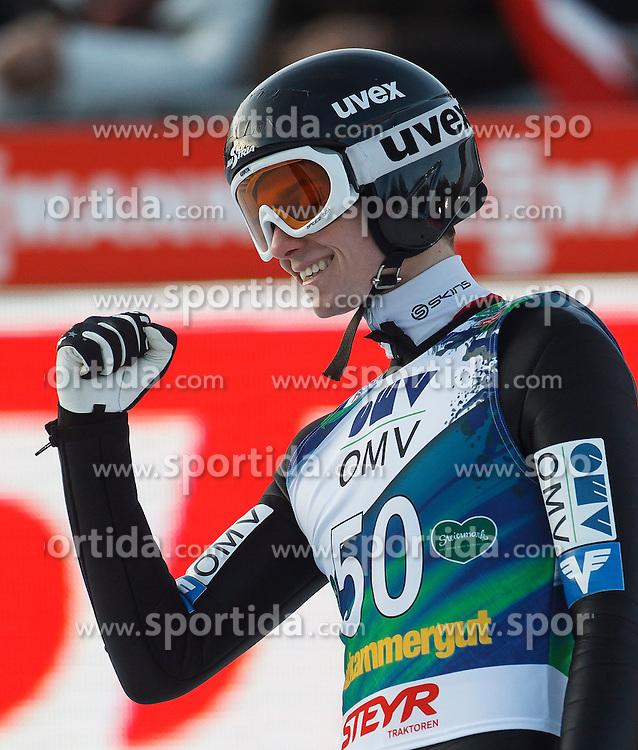 12.01.2014, Kulm, Bad Mitterndorf, AUT, FIS Ski Flug Weltcup, Zweiter Durchgang, im Bild Manuel Poppinger (AUT) // Manuel Poppinger (AUT) during the second round of FIS Ski Flying World Cup at the Kulm, Bad Mitterndorf, Austria on 2014/01/12, EXPA Pictures © 2013, PhotoCredit: EXPA/ Erwin Scheriau