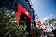May 20-24, 2015: Monaco Grand Prix - Ferrari f1 team motorhome