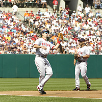 09 September 2007:  Boston Red Sox third baseman Mike Lowell (25) in action against the Baltimore Orioles.  The Red Sox defeated the Orioles 3-2 at Camden Yards in Baltimore, MD.  ****For Editorial Use Only****