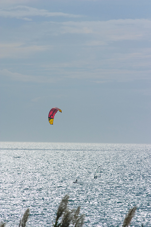 Parasailing on the Costa del Sol, Spain
