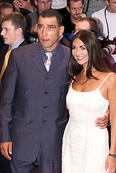 Vinnie Jones and his wife during the Gone in 60 Seconds European Premiere, July 26, 2000. Photo by Andrew Parsons / i- Images...