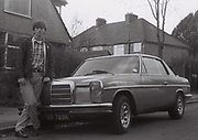 Teenager with Mercedes, Southall, UK, 1984