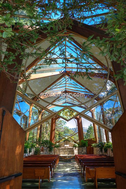 Wayfarers Chapel, designed by Lloyd Wright, Palos Verdes Peninsula, Chapel