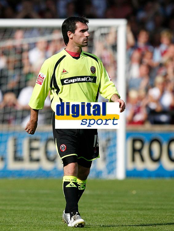 Photo: Steve Bond.<br />Scunthorpe United v Sheffield United. Coca Cola Championship. 01/09/2007.