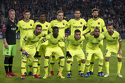 November 28, 2018 - Eindhoven, Netherlands - FC Barcelona team poses for a photo during the UEFA Champions League Group B match between PSV Eindhoven and FC Barcelona at Philips Stadium in Eindhoven, Netherlands on November 28, 2018  (Credit Image: © Andrew Surma/NurPhoto via ZUMA Press)