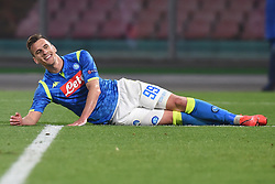March 7, 2019 - Naples, Naples, Italy - Arkadiusz Milik of SSC Napoli during the UEFA Europa League match between SSC Napoli and RB Salzburg at Stadio San Paolo Naples Italy on 7 March 2019. (Credit Image: © Franco Romano/NurPhoto via ZUMA Press)