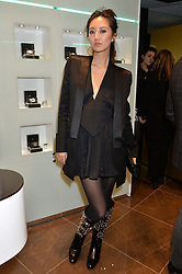 BETTY BACHZ at a party in celebration of LCM 2015 and the launch of the Tateossian's first ever men's-only boutique at 55 Sloane Square, London on 10th January 2015.