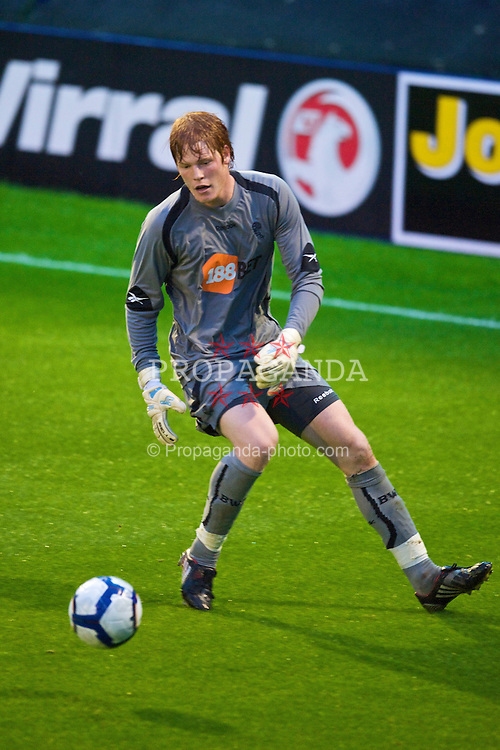 BIRKENHEAD, ENGLAND - Wednesday, September 2, 2009: Bolton Wanderers' Adam Bogdan during the FA Premiership Reserves League (Northern Division) match against Liverpool at Prenton Park. (Photo by David Rawcliffe/Propaganda)