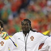 Éder, (centre), Portugal, during the National Anthem before the Portugal V Mexico International Friendly match in preparation for the 2014 FIFA World Cup in Brazil. Gillette Stadium, Boston (Foxborough), Massachusetts, USA. 6th June 2014. Photo Tim Clayton