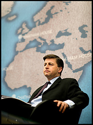 Douglas Alexander  Labour's Shadow Foreign Secretary, deliver's a speech at Chatham House on the UK's relationship with the European Union, Thursday January 17, 2013. Photo: Andrew Parsons / i-Images