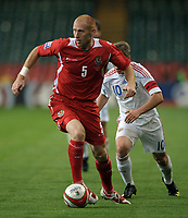 James Collins of Wales <br /> Wales vs Russia<br /> 2010 World Cup Qualifier, Millennium Stadium, Cardiff, UK<br /> 09/09/2009. Credit Colorsport/Dan Rowley<br /> Football
