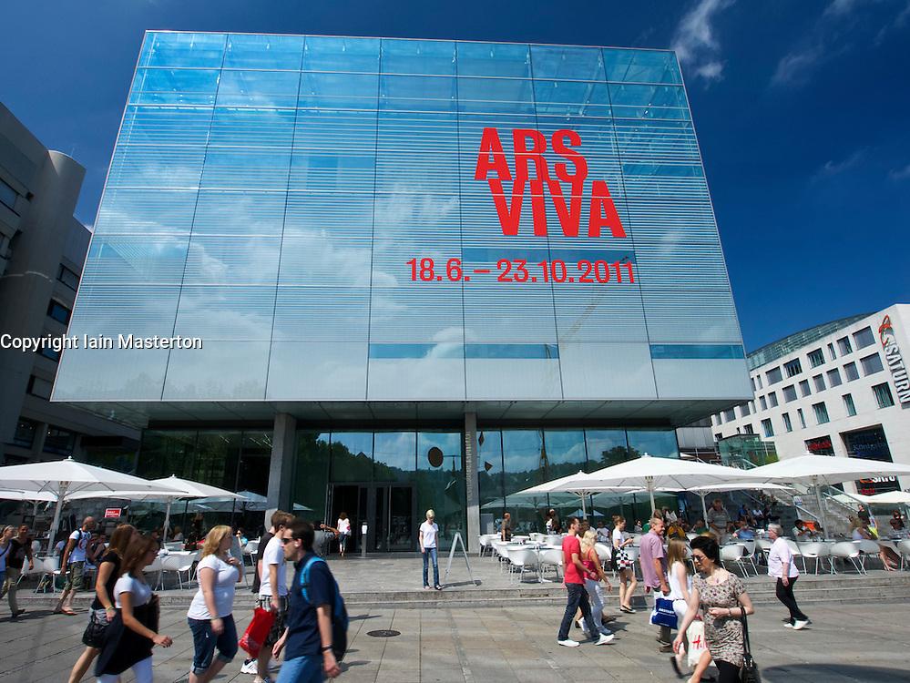 Exterior of Kunstmuseum in Stuttgart Germany