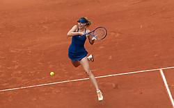 May 29, 2018 - Paris, France - Maria Sharapova of Russia returns the ball to Richel Hogenkamp of Netherland during the first round at Roland Garros Grand Slam Tournament - Day 3 on May 29, 2018 in Paris, France. (Credit Image: © Robert Szaniszlo/NurPhoto via ZUMA Press)