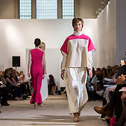 13.05.2016.           <br /> A model showcases designs by Megan Harley-Peters titled 'Protea' at the much anticipated Limerick School of Art & Design, LIT, (LSAD) Graduate Fashion Show on Thursday 12th May 2016. The show took place at the LSAD Gallery where 27 graduates from the largest fashion degree programme in Ireland showcased their creations. Ranked among the world's top 50 fashion colleges, Limerick School of Art and Design is continuing to mold future Irish designers.. Picture: Alan Place/Fusionshooters