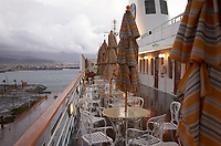"(Image nine of nine) Panorama of the Ensenada harbor in Mexico on a grey and raining day from the deck of the MV World Odyssey. The other cruse ship is the Carnival Imagination. Once all of the students, faculty, staff, and life long learners were aboard we would be ready to begin the 102 day ""round the world"" Semester at Sea Spring 2016 Voyage. Composite of nine images taken with a Leica T camera and 23 mm f/2 lens (ISO 250, 23 mm, f/2, 1/80 sec). Panorama stitched using AutoPano Giga Pro."